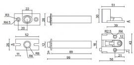 Concealed Fix Security Door Chain- CDC 22 - Smart ...